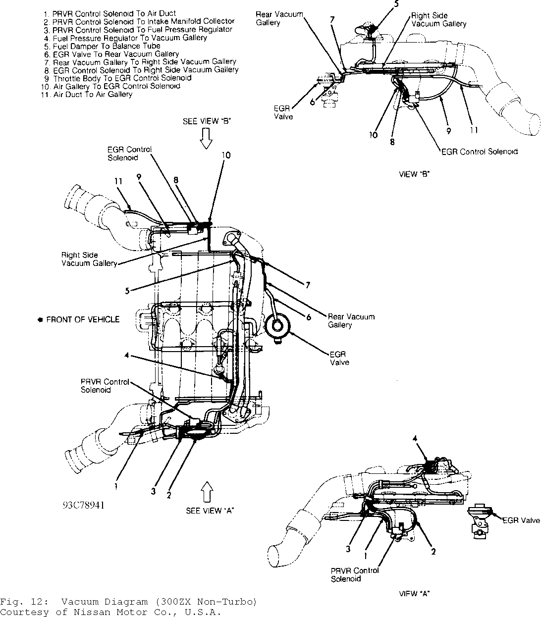 Fig 9 Vacuum Diagram Quest Courtesy Of Nissan Motor Co U S A