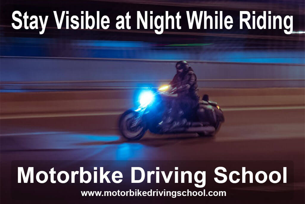 stay visible at night while riding