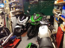 bit of green in the garage