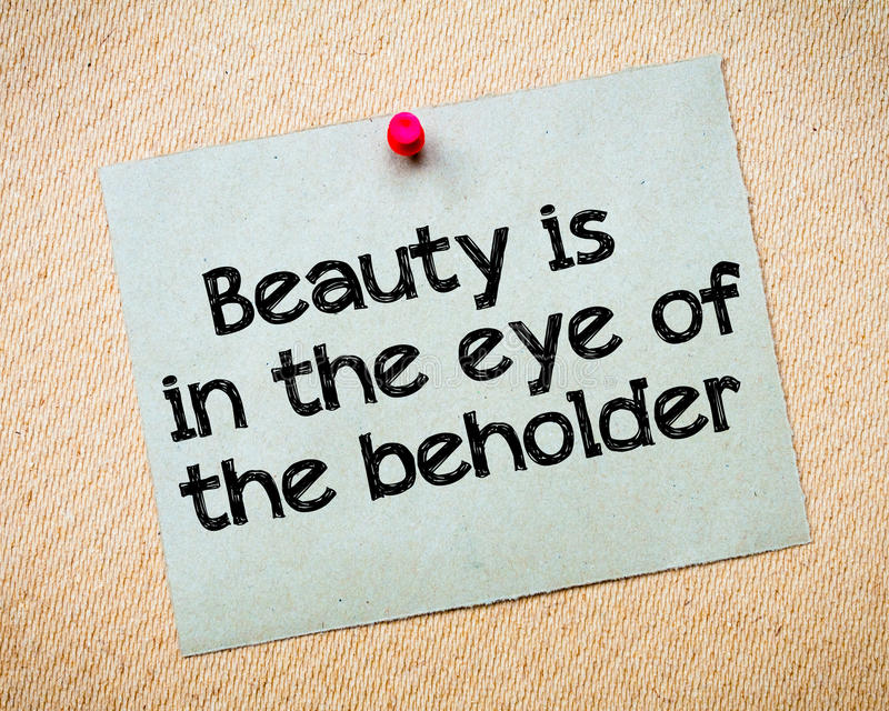 beauty-eye-beholder-message-recycled-paper-note-pinned-cork-board-concept-image-51988194