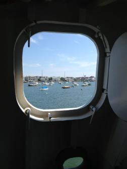 almost there through a porthole