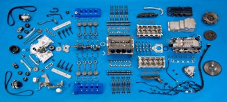 2013 Shelby GT500 Grabber Blue 650 HP 200 MPH 5.8L Exploded View Motor City