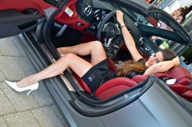 2013 SL63 AMG Mercedes-Benz Fashion Week SWIM Supermodel Legs