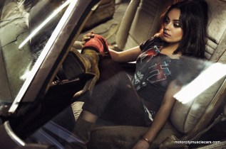 Mila Kunis Posing Interior 1977 Pontiac Trans AM Interview Magazine