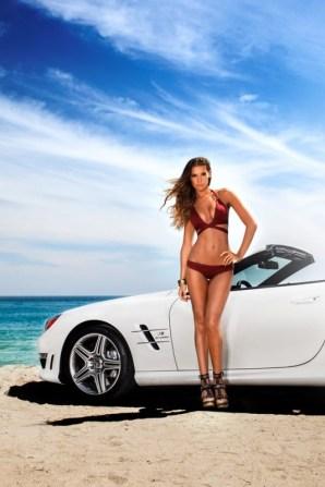 Vitamin A by Amahlia Stevens SL63 AMG Mercedes-Benz Fashion Week SWIM Supermodel Bikini Red
