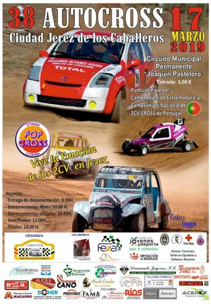 Cartel 38 Autocross Jerez de los Caballeros