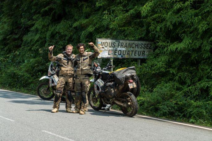 Kind of half way. We crossed into the southern hemisphere in Gabon.