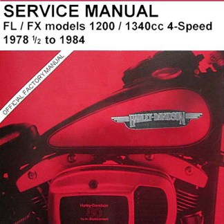 1978-1984 FL-FX Shovelhead Service Manual