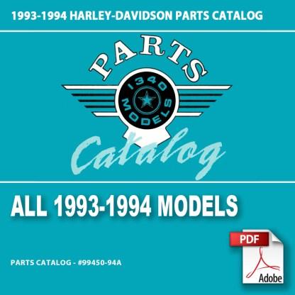 1993-1994 All 1340cc Models Parts Catalog