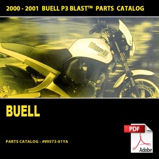 2000-2001 Buell P3 Blast Models Parts Catalog