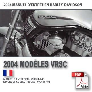 2004 Manuel d'entretien des modèles VRSC
