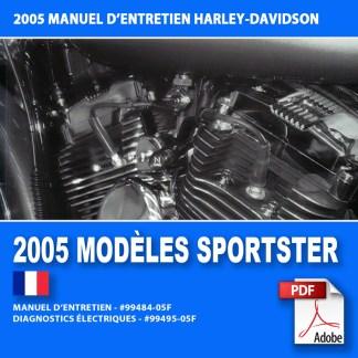 2005 Manuel d'entretien des modèles Sportster