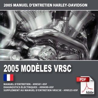 2005 Manuel d'entretien des modèles VRSC