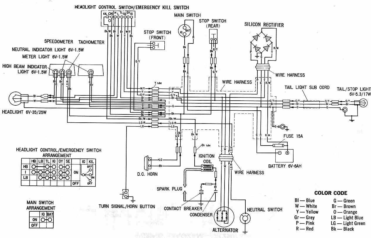 complete electrical wiring diagram of honda xl100?resize=640%2C411&ssl=1 1965 honda cb160 wiring diagram hobbiesxstyle Fabtek Parts at crackthecode.co