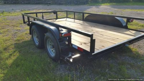 Trailers 12 X 77 Tandem Axle Utility Trailer With Ramps