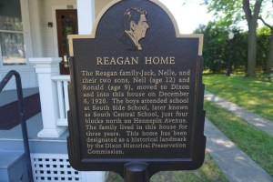 Reagan Home sign