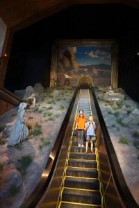 museum escalator