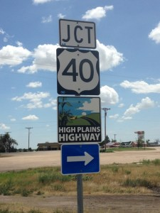 Jct 40 High Plains Highway sign
