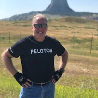 Mike in front of Devils tower Wyoming