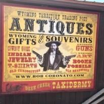 Antique gift shop sign