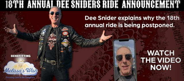 Image of Dee Snider promoting his charity event banner