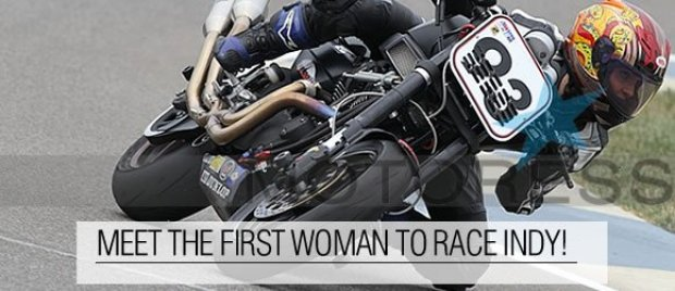 First Woman Motorcycle Racer at Indy on MOTORESS
