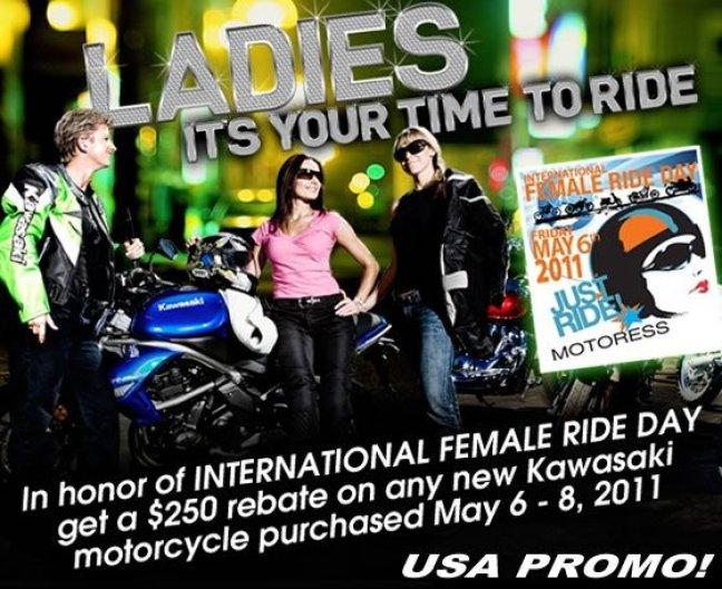 Kawasaki Woman Rider