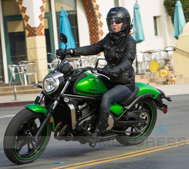 Kawasaki Vulcan S Woman Motorcycle Rider on MOTORESS