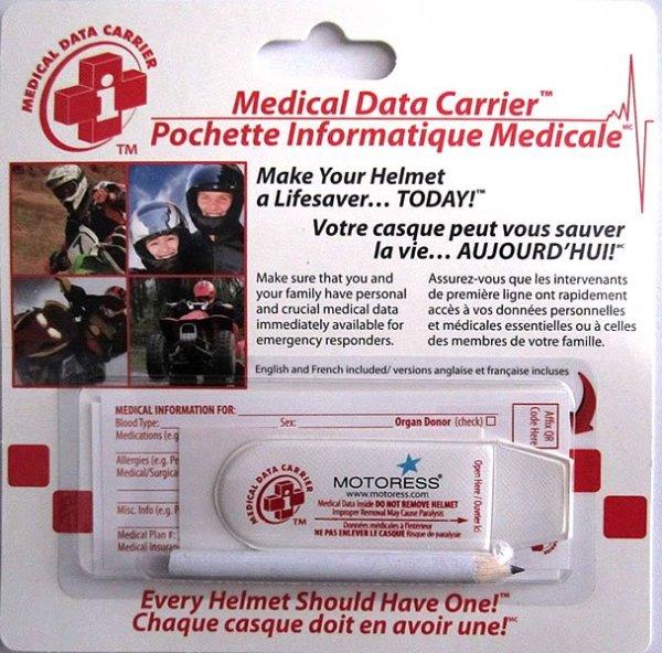 Helmet Medical Data Carrier MOTORESS