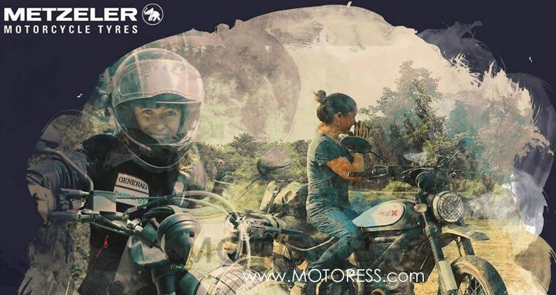 Natural Born Lady Rider Metzeler Calendar on MOTORESS
