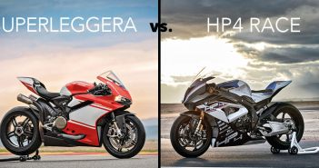 Ducati 1299 Superleggera vs BMW HP4 RACE