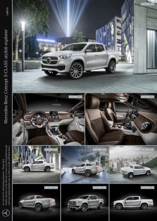 Mercedes-Benz Concept X-CLASS stylish explorer ; Mercedes-Benz Concept X-CLASS stylish explorer;