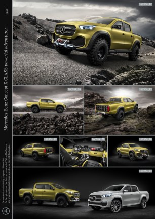 Mercedes-Benz Concept X-CLASS powerful adventurer ; Mercedes-Benz Concept X-CLASS powerful adventurer;