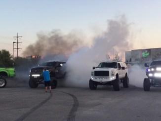 Gas Monkey In: 20 - Diesel Truck Burnouts at Gas Monkey Live