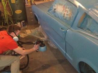 Plasti Dipping a 1966 Mustang Fastback Grabber Blue
