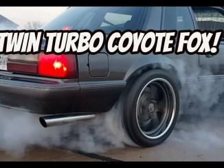*Twin turbo coyote fox* Burnouts & street pulls!