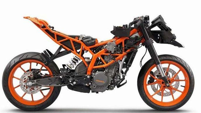 motosiklet trellis şasi-ktm-rc-390