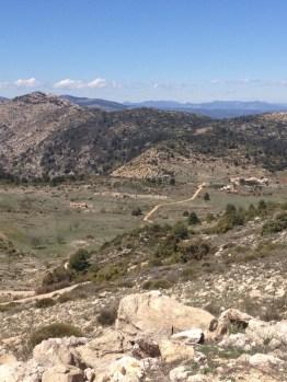 Amazing views on the way up, Sierra Espuña