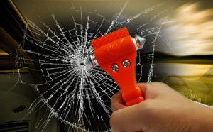 An emergency car escape tool