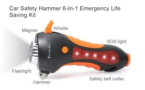 Futuresky no nonsense Car Safety Hammer and 6-In-1 Emergency Life Saving Kit