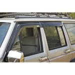 Rugged Ridge Smoked Acrylic Front and Rear Window Rain Deflector, wind deflector for trucks roof