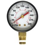 A 1 inch 300 PSI gauge for air pressure
