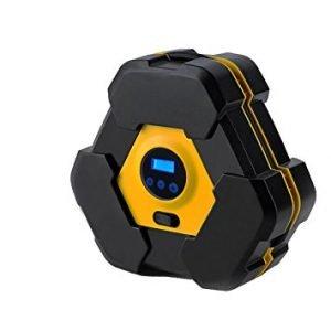 NOOX portable electrical air pump for inflatables like Car tire, SUV, Bike, Air Mattresses, Air boat, Airbed, Air cushion, Basketballs
