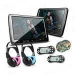 XTRONS HD digital screen DVD player for car headrest with built-in Infrared and FM transmitters