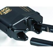 Full release shackle padlock for storage units