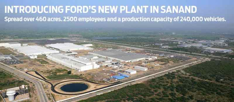 Ford manufacturing facility in Sanand, Gujarat