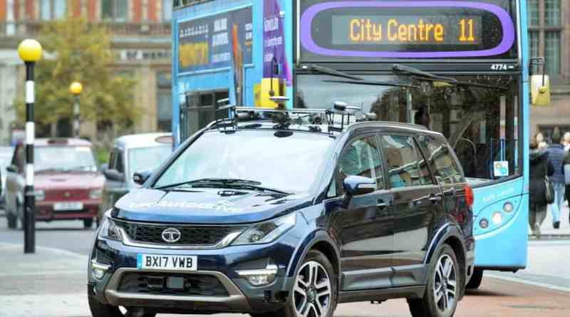 Driverless Tata Hexa Being Tested in UK Traffic