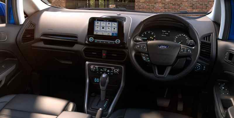 2017 Ford EcoSport Facelift Cabin