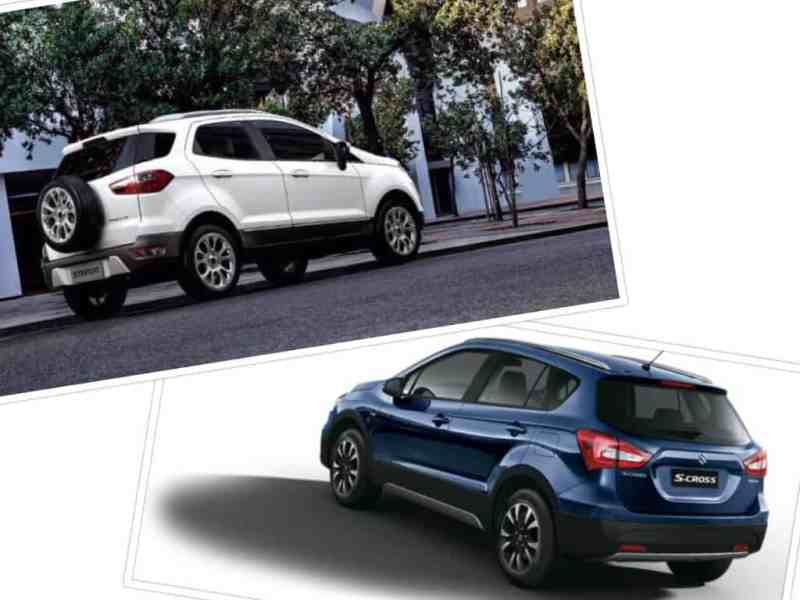 Ford EcoSport vs S Cross Maruti(2) Rear