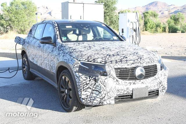 mercedes eqc spy shot california